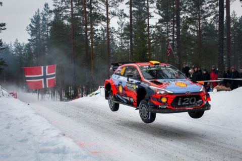 2019 FIA World Rally Championship Round 2 Rallye Sweden 14-17 February 2019 Day 1, Action, Andreas Mikkelsen, Anders Jaeger, Hyundai i20 Coupe WRC  Photographer: Fabien Dufour Worldwide copyright: Hyundai Motorsport GmbH